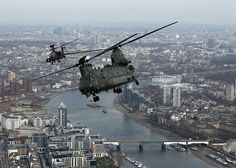Chinook and Apache over London,13/03/15.