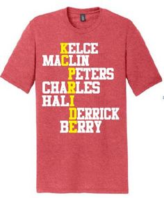KC Tees. Why pick 1 Chiefs player to support, when you could pick 7? This tee sums up the Chiefs…KC PRIDE while reppin 7 of our favorite players!  Wear It's AT Designs-A Kansas City Apparel Company