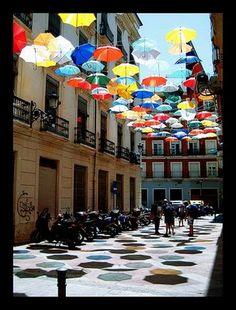 Umbrella Art Installations.