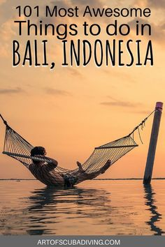 101 THINGS TO DO IN BALI