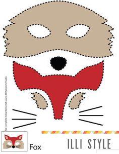 fox mask printable template - illistyle.com