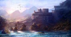 Coastal Fantasy by =jjpeabody on deviantART Fantasy art landscapes Fantasy landscape Landscape art