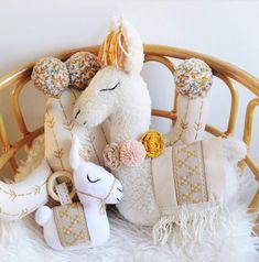 Handmade Llama Softie Pillows | BohoBabyHeaven on Etsy #nurserydecor