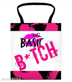 """""""No Basic"""" Black Tote 