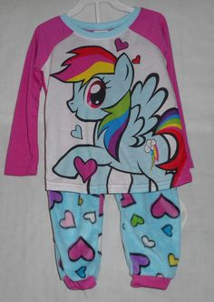 New Girls Size 4 My Little Pony Pajamas Fall Winter Long Sleeve Pants…