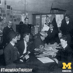 The Michigan Daily will be celebrating its 125th anniversary this coming September. Here's a throwback of the editorial news staff in 1930. We're so proud of our long history of thriving student journalism. #tbt #goblue #umsocial