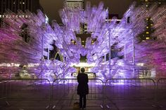 This year, Chinese artist and activist Ai Weiwei presented a new version of his incredible Forever Bicycles installation in Toronto. As the centerpiece of this year's Scotiabank Nuit Blanche, the all-night contemporary art event that takes over city streets, 3,144 bicycles, the most Weiwei has used of this work to date, were stacked 100 feet in length and 30 feet in height and depth in Toronto's Nathan Phillips Square.