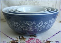 I Love Pyrex   Products I Love / More Pyrex. Colonial Mist pattern.