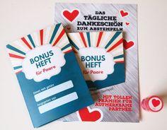Süße Geschenkidee zum Valentinstag: Bonusheft für Paare / romantic gift idea for valentines day: bonus booklet for couples made by Alex Hüpfer via DaWanda.com