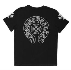 65eca98f986c Buy Black Chrome Hearts Big Diamonds Horseshoe Short T-Shirt Online Color   Black.