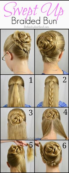 Braided Rose Bun Hairstyle Tutorial - Toronto, Calgary, Edmonton, Montreal, Vancouver, Ottawa, Winnipeg, ON