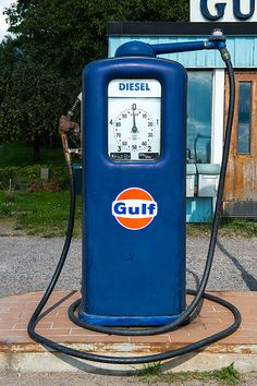 The old gas station - blue pump