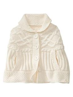 This is beautiful and would look awesome on my niece. Mixed stitch cape   Gap