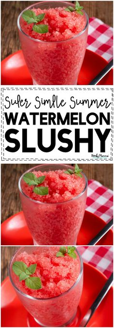 OMG! You HAVE to try this AMAZEBALLS watermelon slushy! It's the PERFECT summer drink!!