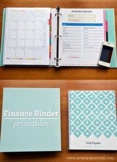 Our finance binder organization/planners 정리