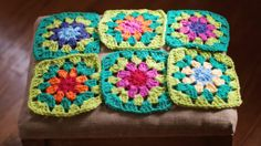 summerlee's version of attic24's summer garden granny squares. Love these colors!