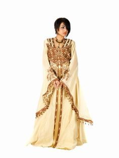 aljalabiya.com: Organza Jalabiya with hand embroidery and beads (N-11205)  Special Price $279.00