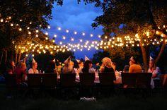 amo esta ideia de jantar ao ar livre