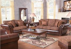 Shop for a Templeton 7 Pc Livingroom at Rooms To Go. Find Leather Living Room Sets that will look great in your home and complement the rest of your furniture.