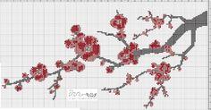 Une jolie branche de cerisier Japonais pour essayer de faire venir plus vite le printemps.   Les infos: 30,2 cm x 14,6 cm en toile de l...