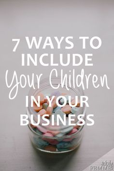 Running a business is full on, and balancing with a family can be tough. So why not include your children in your business? There's a ton of different ways you can include your children, depending on their age. Here's a few ideas to spark some inspiration.