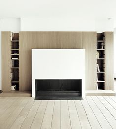 Symmetrical fireplace by Anne Derasse   Appartement 2 Bruxelles