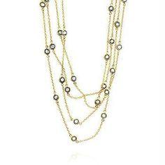 Layered Bezel Golden Necklace