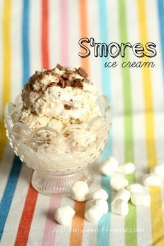 Smores ice cream #recipe #food #dessert