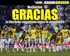 Gracias selección Colombia! La hinchada colombiana nunca te abandonará... #seleccioncolombia #Ospina
