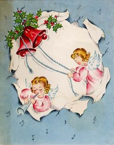 #Christmas #greetingcard #angels