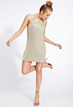 Sequined Statement Shift Dress | FOREVER21 - 2040495295 looks so expensive but isn't really