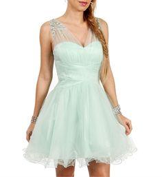 Ari- Mint Short Dama Dress