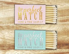 Stickers for Matchboxes - The Perfect Match, Personalised wedding match box labels, wedding matches, wedding match favor, wedding matchboxes