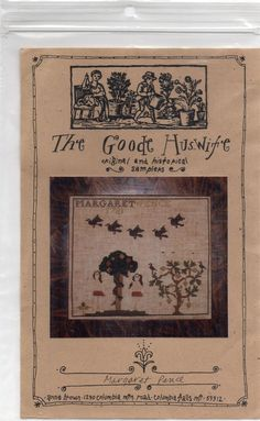 Goode Huswife Margaret Pence 1781 Adam and Eve reproduction sampler OOP pattern