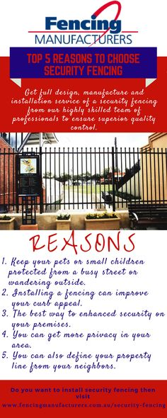 Security fencing has become more popular, as well as more necessary than ever before. It looks good and makes a statement about your business whilst protecting your plant and equipment. Fencing Manufacturers offers a choice of three gauges in security fencing – light, medium and heavy, which are ideal for commercial and rural properties. Fences available in a choice of designs to suit your budget.