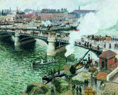 Camille Pissarro (1830-1903), The Boeildieu Bridge in Rouen (1893)