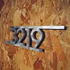 CUSTOM Modern Bars House Number Sign in Aluminum. $159.00, via Etsy.