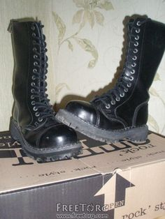 steel boots, punk boots, gothic boots, rock boots, metal boots