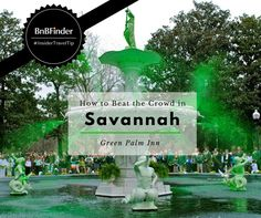 Make your friends green with envy when you tell them about your great seats at one of the largest St. Patrick's Day parade in the country! Check out this from Green Palm Inn to learn more. Savannah Bed And Breakfast, Savannah Historic District, Forsyth Park, Southern Hospitality, Southern Style, Savannah Chat, Envy, Palm, Explore