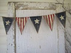 Primitive olde american flag patriotic by funkyshique holiday. Fourth Of July Decor, 4th Of July Decorations, 4th Of July Party, July 4th, Patriotic Bunting, Patriotic Crafts, July Crafts, Patriotic Bedroom, Painting Burlap