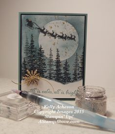 This is such an amazing look - MAGICAL!!! I have a video tutorial on my blog here: http://astampabove.typepad.com/my-bl...technique.html Wonderland, Cozy Christmas, Stampin' Up!, Glitter Splatter Technique, Papercrafts