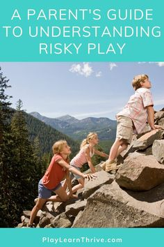 Risky Play for Kids - Children have an innate need for risk-taking, but this isn't a bad thing! In this guide to understanding risky play I'm helping understand the benefits and helpful guidelines for this essential part of childhood. Play Based Learning, Learning Through Play, Kids Learning, Infant Activities, Learning Activities, Activities For Kids, Gentle Parenting, Parenting Advice, Natural Parenting