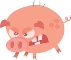 Znalezione obrazy dla zapytania cartoon angry pig