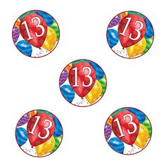 13TH BIRTHDAY BALLOON BLAST DECO FETTI 24 PIECEPKG *** You can find out more details at the link of the image. (This is an affiliate link)