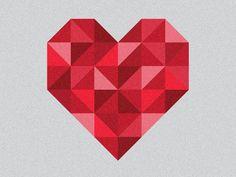 Origami heart. By Tim Damitz