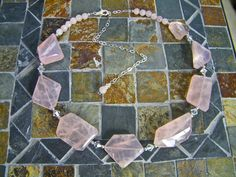 """""""Rose"""" Beautiful Handcrafted Rose Quartz Necklace 