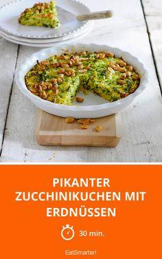 Pikanter Zucchinikuchen mit Erdnüssen - smarter - Zeit: 30 Min.   eatsmarter.de