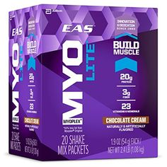 EAS Myoplex Lite Protein Shake Mix Packets, Chocolate Cream, 1.9 oz packets, 20 servings * Read more at the image link.