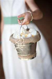 burlap flower girl basket bucket aminamichele.com amina michele ...