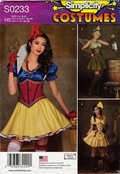 Simplicity 0233 Misses' Costumes